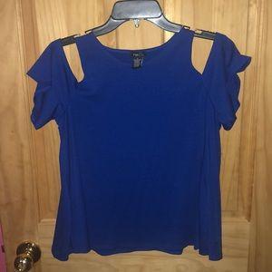 Rue 21 blue off the shoulder shirt